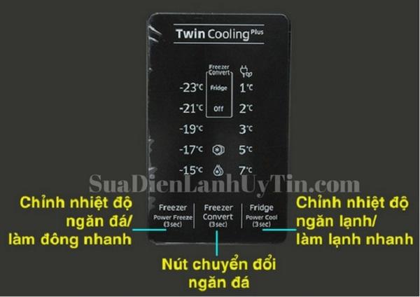Bảng điều khiển nhiệt độ tủ lạnh samsung inverter RT35K5532S8/SV